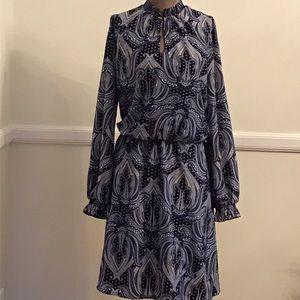 Boho White House Black Market Blue Dress Size L